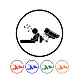 Ilustração do Cctv Imagens de Stock