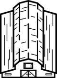 Ilustração do celeiro - linhas limpas ilustração stock