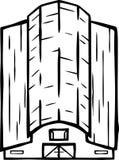 Ilustração do celeiro - linhas orgânicas ilustração stock