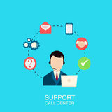 Ilustração do centro de atendimento do apoio Imagens de Stock Royalty Free