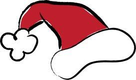 Ilustração do chapéu de Santa Fotografia de Stock