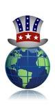 Ilustração do chapéu do globo dos E.U. ilustração do vetor