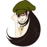 Ilustração do chapéu vestindo da mulher bonita Fotos de Stock Royalty Free