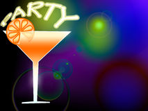 Ilustração do cocktail Imagem de Stock