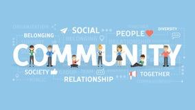 Ilustração do conceito da comunidade ilustração royalty free