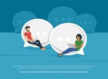 Ilustração do conceito da conversa do bate-papo Fotografia de Stock