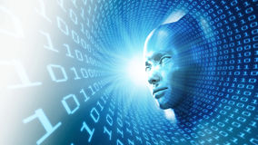 Ilustração do conceito da inteligência artificial Imagem de Stock