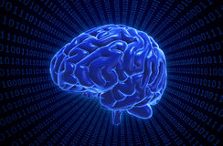 Ilustração do conceito da inteligência artificial Imagens de Stock Royalty Free