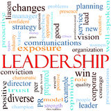 Ilustração do conceito da palavra da liderança Imagens de Stock