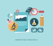 Ilustração do conceito da pesquisa de mercado Fotos de Stock Royalty Free