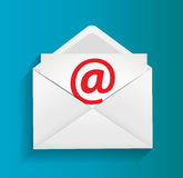 Ilustração do conceito da proteção do email Foto de Stock Royalty Free