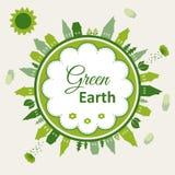 Ilustração do conceito da terra verde Foto de Stock