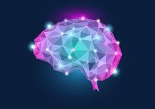 Ilustração do conceito do cérebro humano fotos de stock