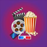 Ilustração do conceito do cinema Ilustração do Vetor