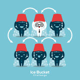 Ilustração do conceito do desafio da cubeta de gelo do Als Fotografia de Stock Royalty Free