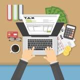 Ilustração do conceito do imposto Foto de Stock Royalty Free