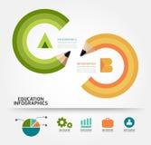 Ilustração do conceito do lápis da educação de Infographics Fotos de Stock Royalty Free