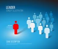 Ilustração do conceito do líder da equipa Foto de Stock
