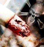 Ilustração do conceito do perigo do fumo Imagens de Stock Royalty Free