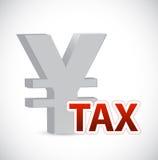 Ilustração do conceito do sinal do imposto da moeda dos ienes Fotos de Stock