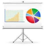 Ilustração do conceito dos gráficos de negócio Foto de Stock