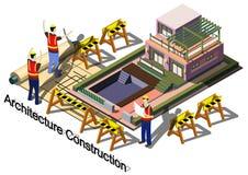 Ilustração do conceito gráfico da construção da arquitetura da informação Foto de Stock
