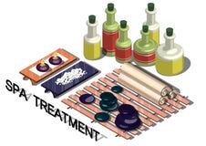 Ilustração do conceito gráfico do tratamento dos termas da informação Fotos de Stock Royalty Free