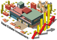 Ilustração do conceito gráfico dos organismos de investimento imobiliário da informação Imagens de Stock