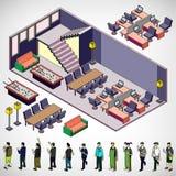 Ilustração do conceito interior gráfico da sala da informação Foto de Stock
