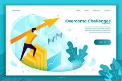 Ilustração do conceito do vetor - desafios superados ilustração stock