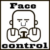 Controle da cara do quadro indicador em preto e branco Fotografia de Stock Royalty Free