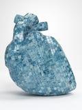 Ilustração do coração 3d do mosaico Fotografia de Stock Royalty Free