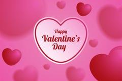 A ilustração do coração borrado balloons o fundo, dia de Valentim poster4 Fotos de Stock