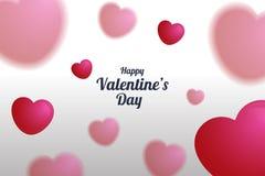 A ilustração do coração borrado balloons o fundo, dia de Valentim poster4 Imagem de Stock