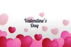 A ilustração do coração borrado balloons o fundo, dia de Valentim poster5 Fotos de Stock