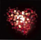 Ilustração do coração de Bokeh Fotos de Stock Royalty Free