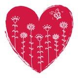 Ilustração do coração do Valentim Foto de Stock