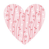 Ilustração do coração do Valentim Fotos de Stock
