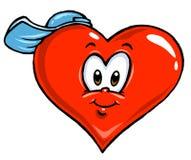 Ilustração do coração dos desenhos animados - coloração Fotos de Stock Royalty Free