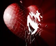 Ilustração do coração quebrado ilustração royalty free