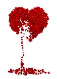 Ilustração do coração quebrado Fotografia de Stock
