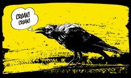 Ilustração do corvo Imagens de Stock Royalty Free