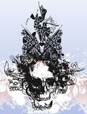 Ilustração do crânio da bruxa Imagem de Stock Royalty Free