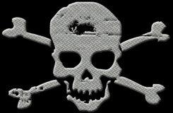 Ilustração do crânio da placa do diamante com trajeto de grampeamento Fotografia de Stock Royalty Free