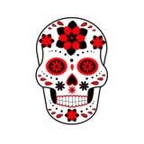 Ilustração do crânio Dia dos mortos Crânio com flores skull ilustração royalty free
