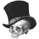 Ilustração do crânio do chapéu alto ilustração do vetor