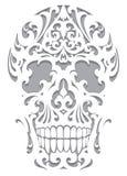Ilustração do crânio no estilo do art nouveau ilustração do vetor