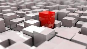 Ilustração do cubo vermelho no backround Imagem de Stock