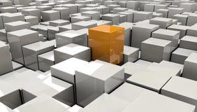 Ilustração do cubo vermelho no backround Imagens de Stock Royalty Free