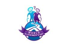 Ilustração do dia de alzheimer do mundo ilustração royalty free